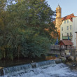The river Gera in the city of Erfurt, Germany — Stock Photo