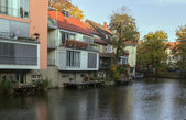 River Gera quay in Erfurt, Germany — Stock Photo