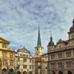 Malostranska square,Prague — Stock Photo