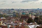 Clase a Praga desde el castillo de Praga — Foto de Stock
