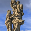 Statue on Charles Bridge, Prague — Stockfoto #15894081