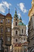 Kind on The Church of Saint Nicholas, Prague — Stock Photo