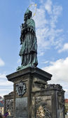 The statue on Charles Bridge, Prague — Zdjęcie stockowe