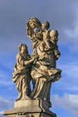 The statue on Charles Bridge, Prague — Stock Photo