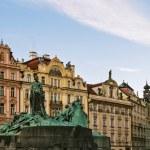 Jan Hus Memorial, Prague — Stock Photo