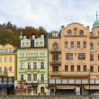 Embankment of Tepla river, Karlovy Vary - Stock Photo