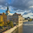 Smetanembankment, Prague — Stockfoto #17690507