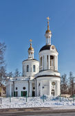 Church of the Theotokos icon of Blachernae in Kuzminki, Moscow, — Stock Photo