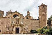 Het klooster van santa maria de poblet, spanje — Stockfoto