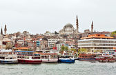 View to Suleymaniye Mosquer, Istanbul — Stock Photo