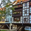 Bridge Kramerbrucke, Erfurt, Germany — Stock Photo