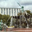 The Neptune Fountain in Berlin, Germany — Stock Photo