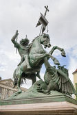 Statue of St George in Berlin — Stock Photo