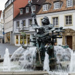 Neptune fountain, Paderborn — Foto Stock