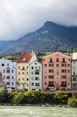 Houses on River Inn in Innsbruck, Austria — Stock Photo