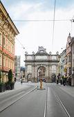 Ulica w innsbruck, austria — Zdjęcie stockowe