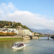 Stock Photo: Salzach river in Salzburg, Austria