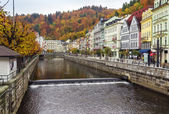 River Tepla, Karlovy Vary — Stock Photo