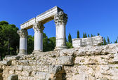 Octavia temple in ancient corinth — Stock Photo
