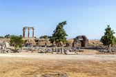 храм аполлона в древнем коринфе, греция — Стоковое фото