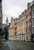 Street in the old town of Riga — Stock Photo