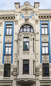 The building in Art Nouveau style, Riga — Stock Photo