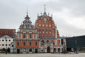 The building of the Brotherhood of Blackheads, Riga  — Stock Photo
