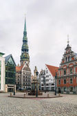 Riga Town Hall Square — Stock Photo