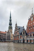 Plaza del Ayuntamiento de Riga — Foto de Stock
