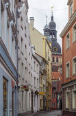 Street in the old town of Riga — Foto Stock