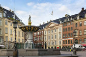 Squere in Copenhagen — Stock Photo