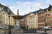 Squere in Copenhagen — Stock Photo