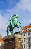 The equestrian statue of Absalon, Copenhagen — Stock Photo
