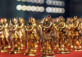 Golden toy soldiers — Stock Photo