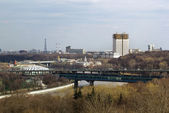 Panorama of Moscow from Sparrow hills,Russia — Stock Photo