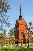Bell Tower of St. Johannes Church, Stockholm — Stock Photo