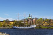 Af Chapman (ship) in Stockholm — Stock Photo