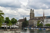 Limmat river in Zurich — Stock Photo