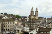 Grossmunster church, Zurich — Stock Photo