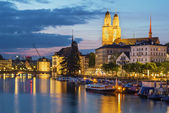 Limmat river in Zurich — 图库照片