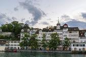 Embankment of Limmat river, Zurich — Photo