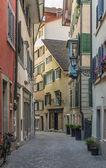 улица в цюрихе — Стоковое фото