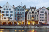 Embankment of Limmat river, Zurich — ストック写真