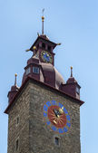 Town Hall clock tower, Lucerne — Foto de Stock