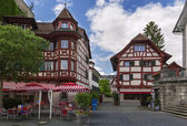 Half-timbered houses, Lucerne — ストック写真