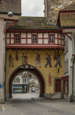 Gate, Aarau, Switzerland — Stock Photo