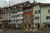 Square in Lenzburg, Switzerland — Stock Photo