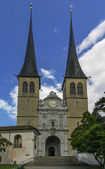 Church of St. Leodegar, Lucerne — Stock Photo