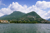 Lake Lugano, Switzerland — Stock Photo