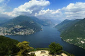 Lake Lugano, Switzerland — Photo